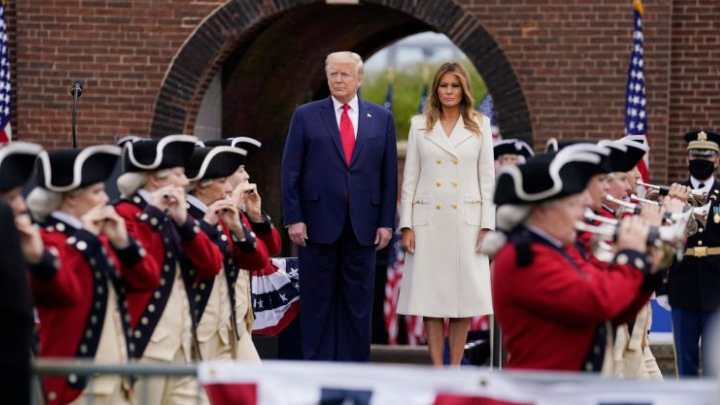 President Trump and First Lady pays tribute to immortal souls at Memorial Day ceremony