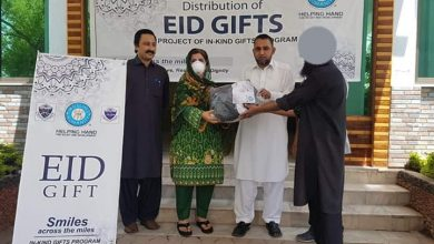 Helping Hands, PUTA, Department of Social Work, UOP joint venture to distribute Eid gifts
