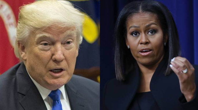 Trump: ' I wouldn't be in White House if Obama had done the job'; somebody explain to Michelle
