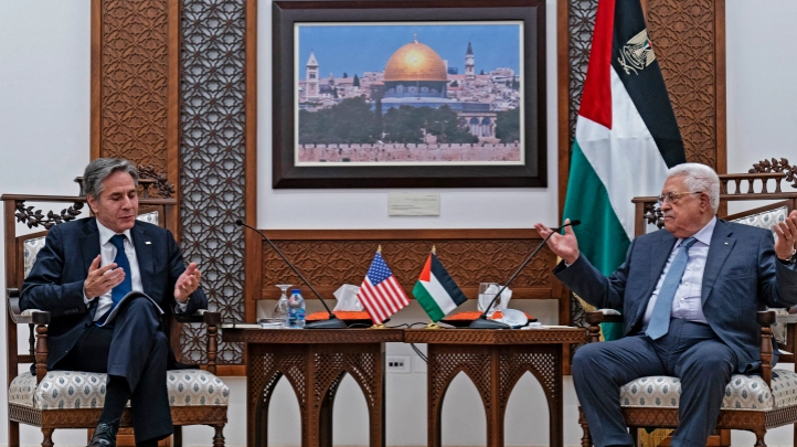 US Secretary of State pledges $75m in US assistance to Palestinians